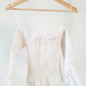 NWT Zara Off-shoulder Embroidered Top Sz XS
